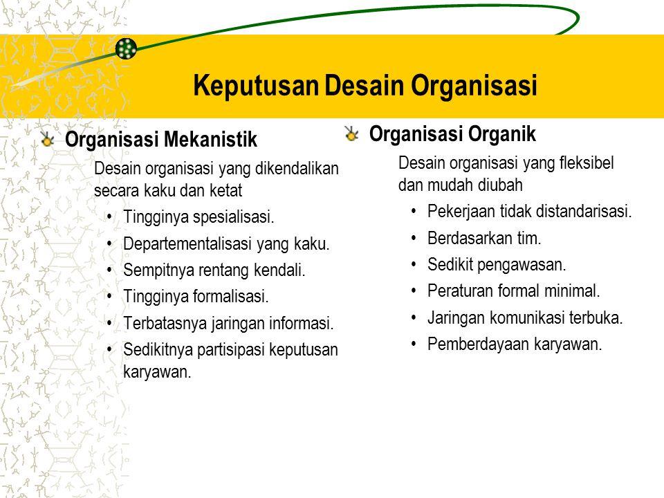 Keputusan Desain Organisasi