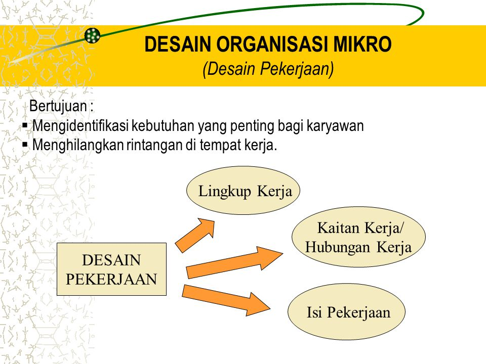 DESAIN ORGANISASI MIKRO (Desain Pekerjaan)