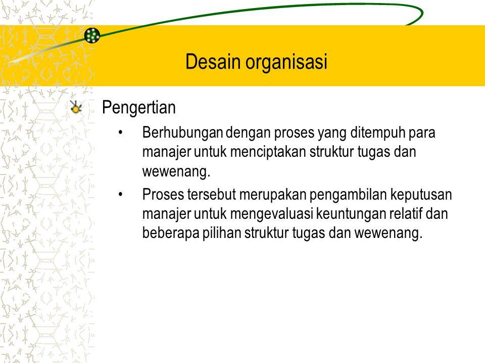 Desain organisasi Pengertian
