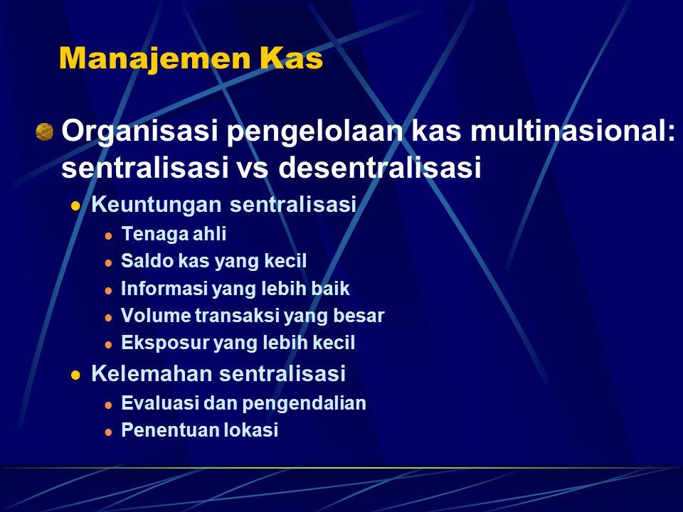 Manajemen Kas Organisasi pengelolaan kas multinasional: sentralisasi vs desentralisasi. Keuntungan sentralisasi.