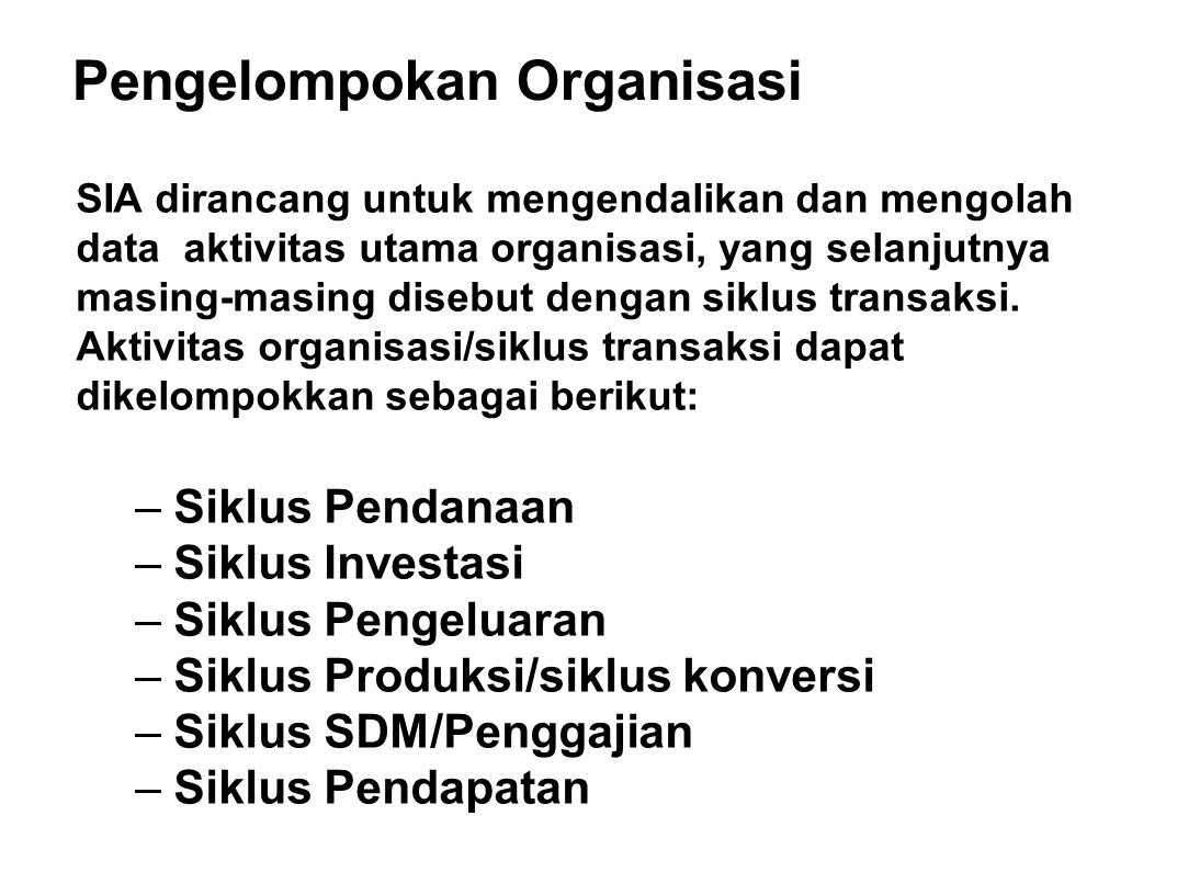 Pengelompokan Organisasi