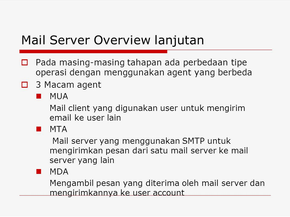 Mail Server Overview lanjutan