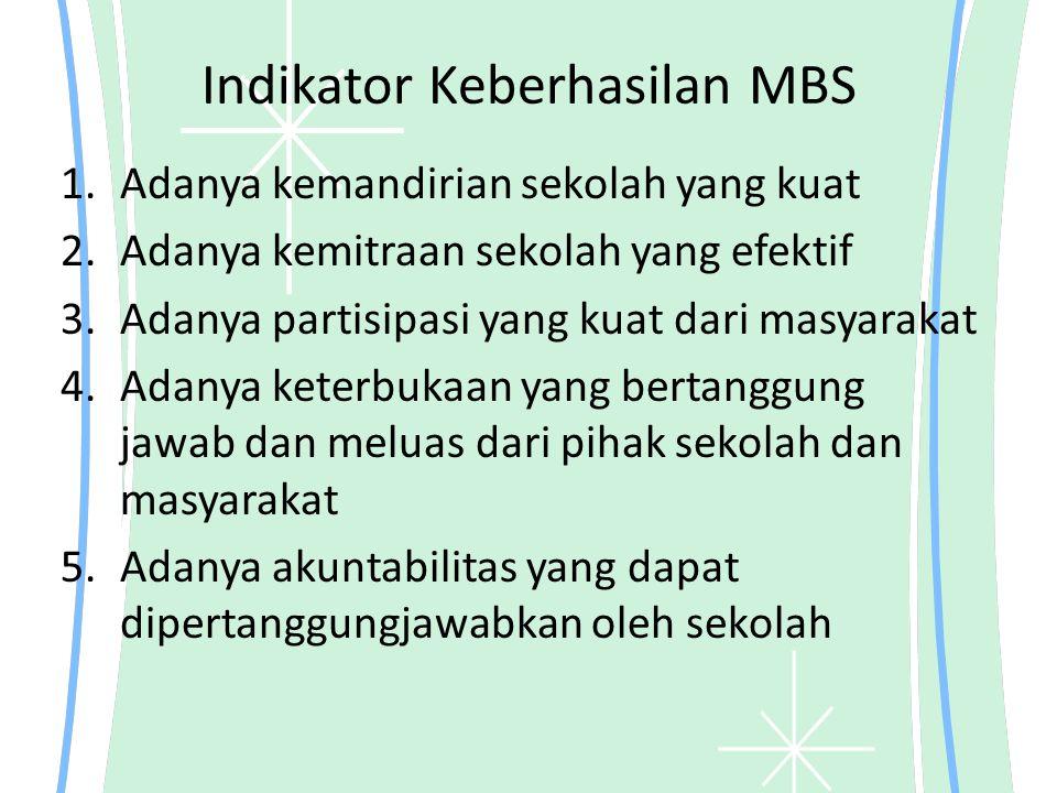 Indikator Keberhasilan MBS