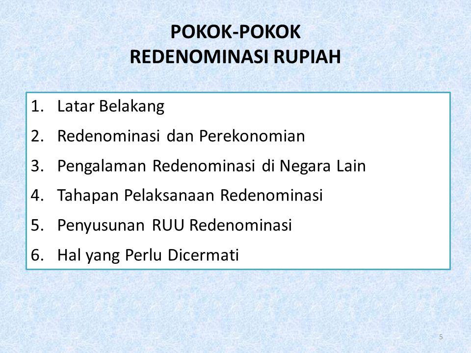 POKOK-POKOK REDENOMINASI RUPIAH