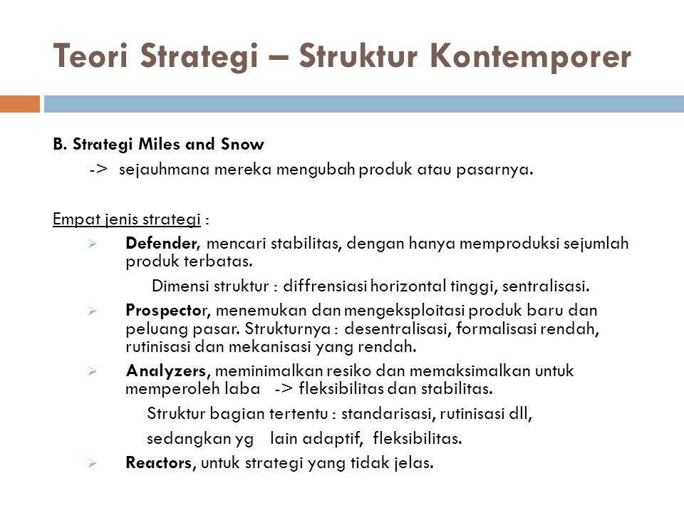 Teori Strategi – Struktur Kontemporer
