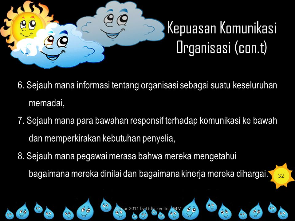 Kepuasan Komunikasi Organisasi (con.t)