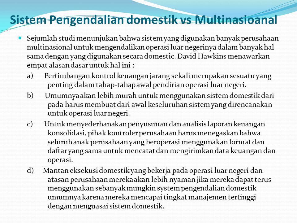 Sistem Pengendalian domestik vs Multinasioanal