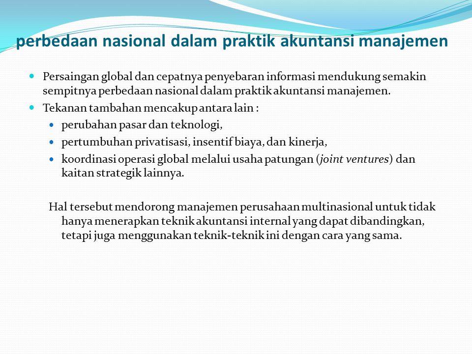 perbedaan nasional dalam praktik akuntansi manajemen