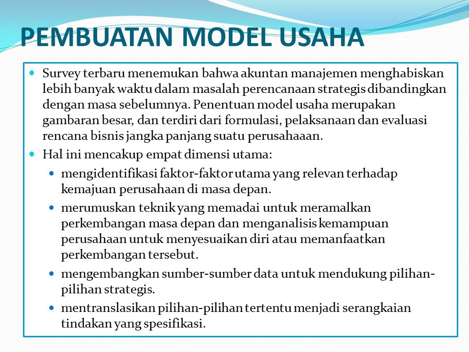 PEMBUATAN MODEL USAHA