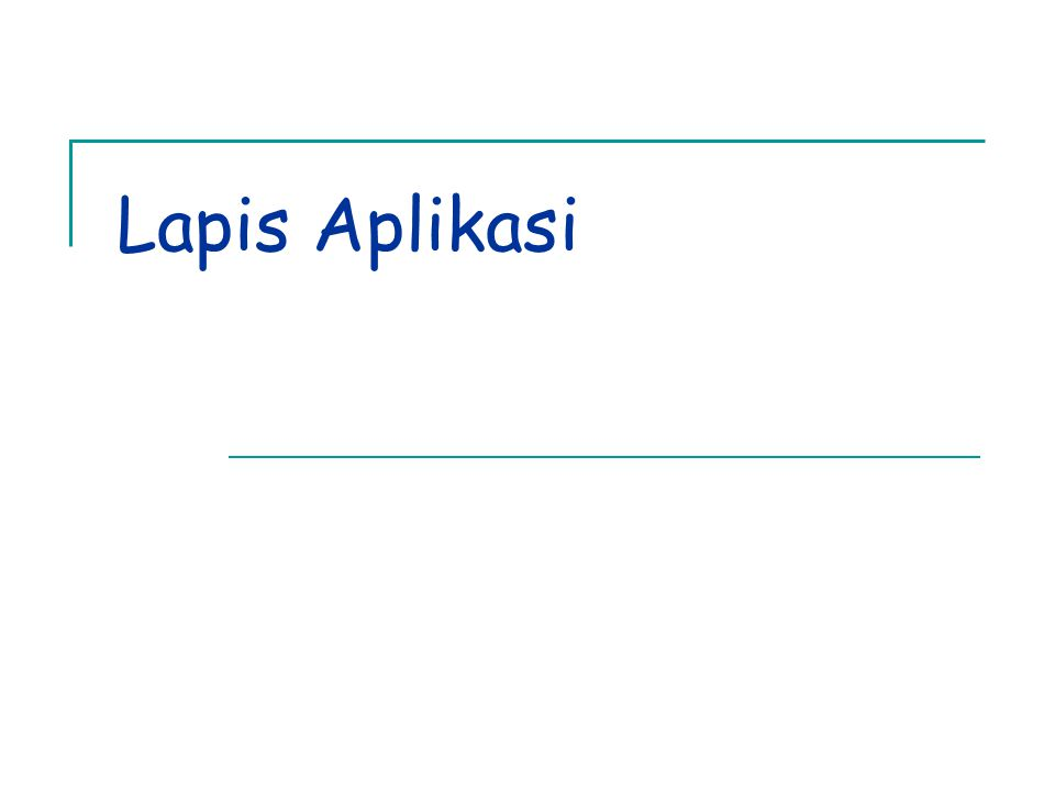 Lapis Aplikasi