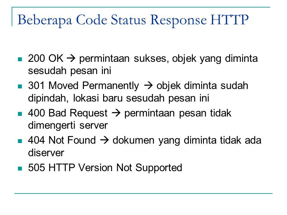 Beberapa Code Status Response HTTP
