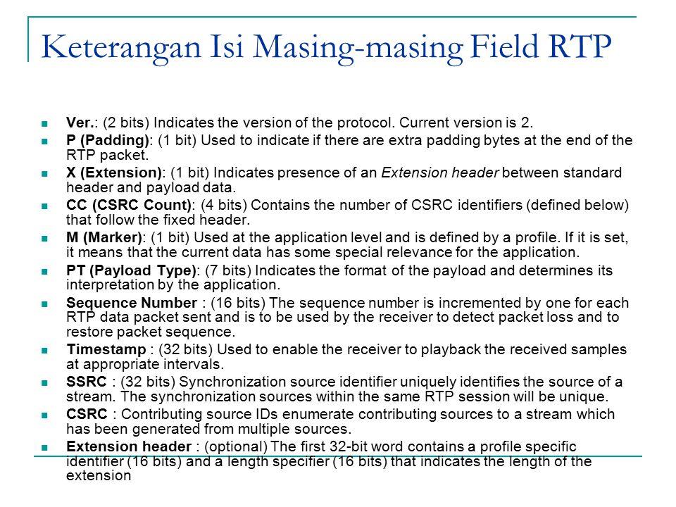 Keterangan Isi Masing-masing Field RTP