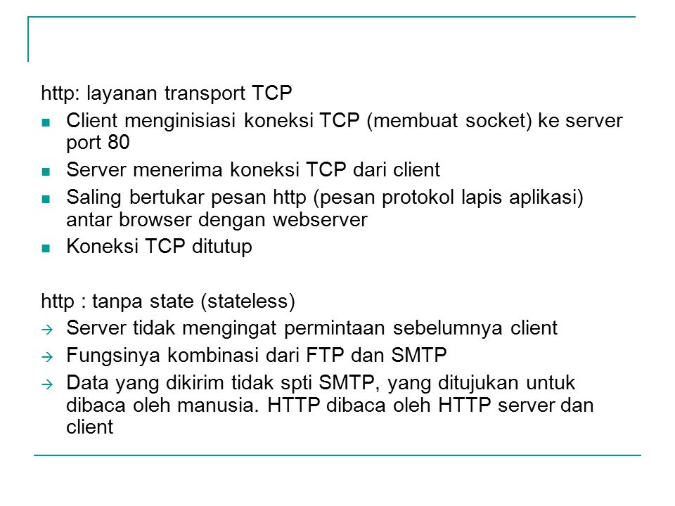 http: layanan transport TCP