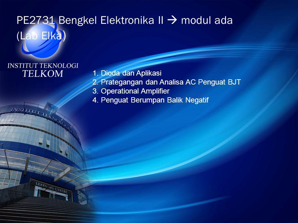 PE2731 Bengkel Elektronika II  modul ada (Lab Elka)