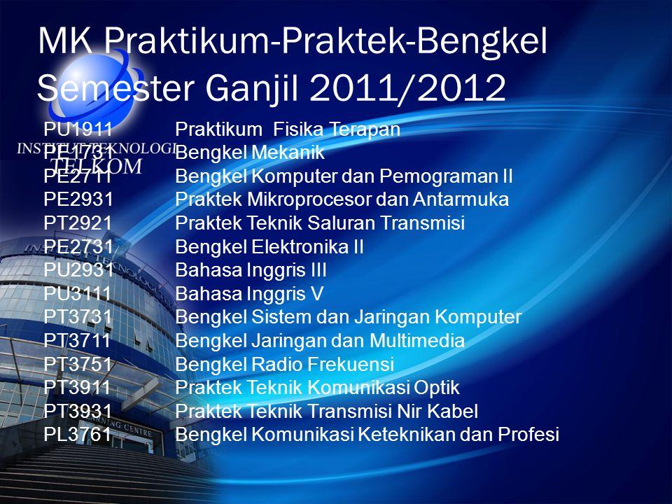 MK Praktikum-Praktek-Bengkel Semester Ganjil 2011/2012