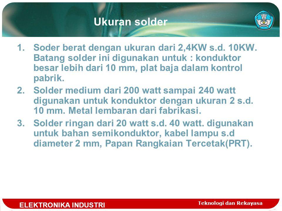 Ukuran solder