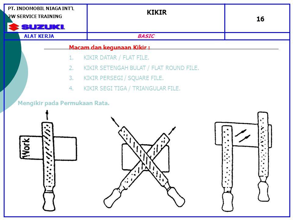 KIKIR 16 Macam dan kegunaan Kikir : KIKIR DATAR / FLAT FILE.
