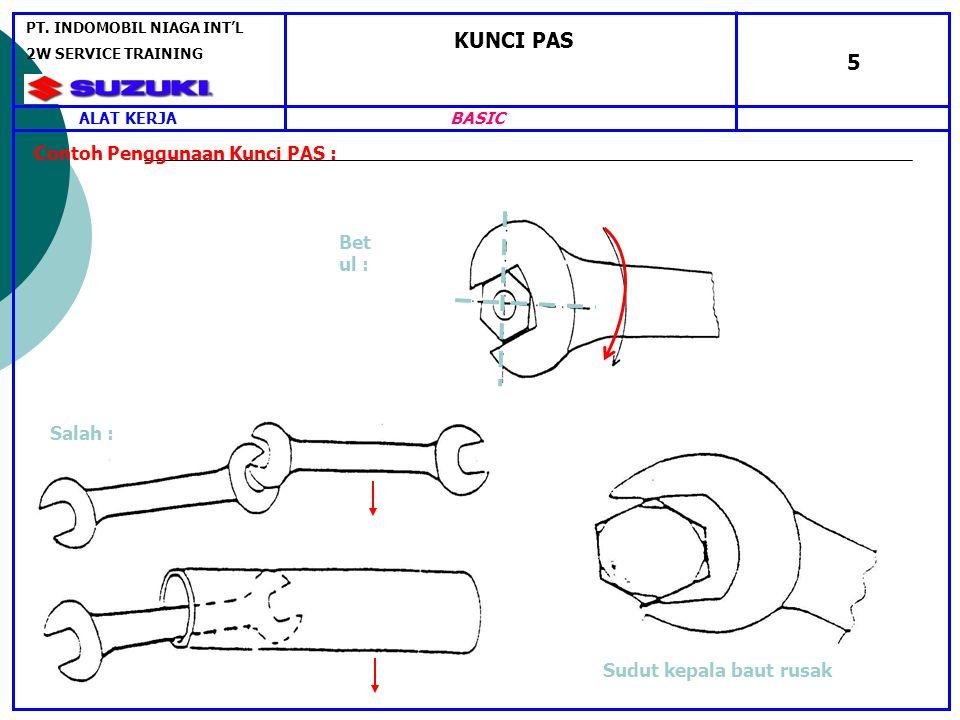 KUNCI PAS 5 Contoh Penggunaan Kunci PAS : Betul : Salah :