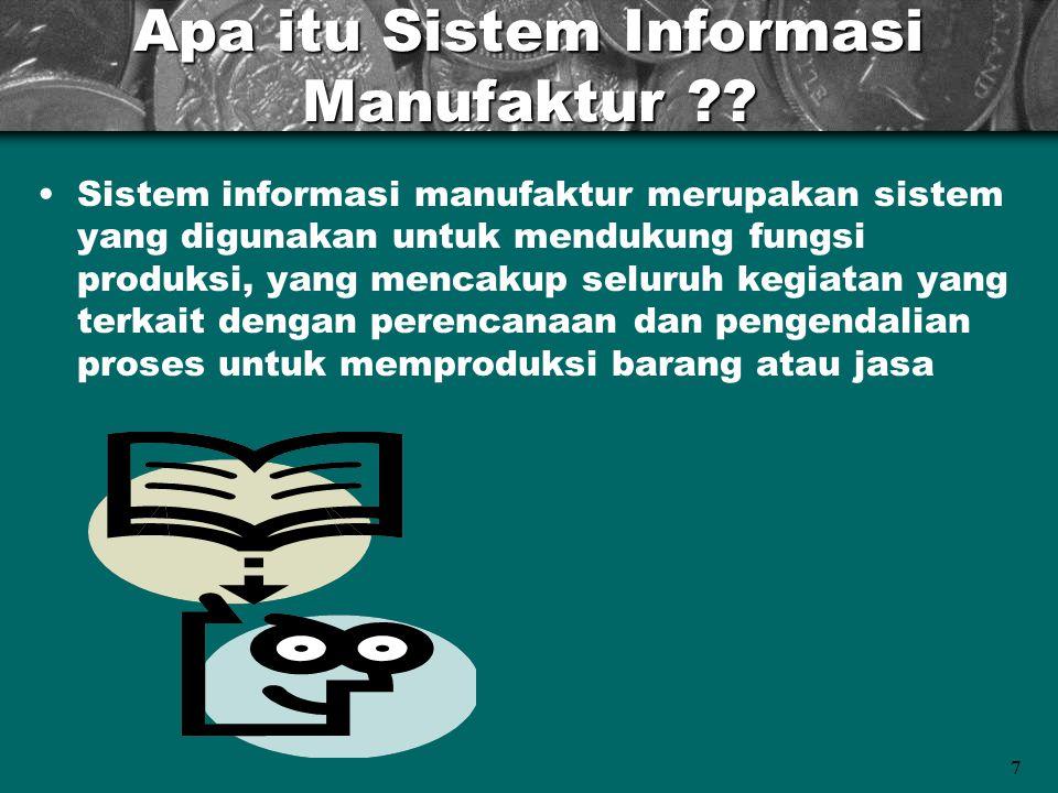 Apa itu Sistem Informasi Manufaktur