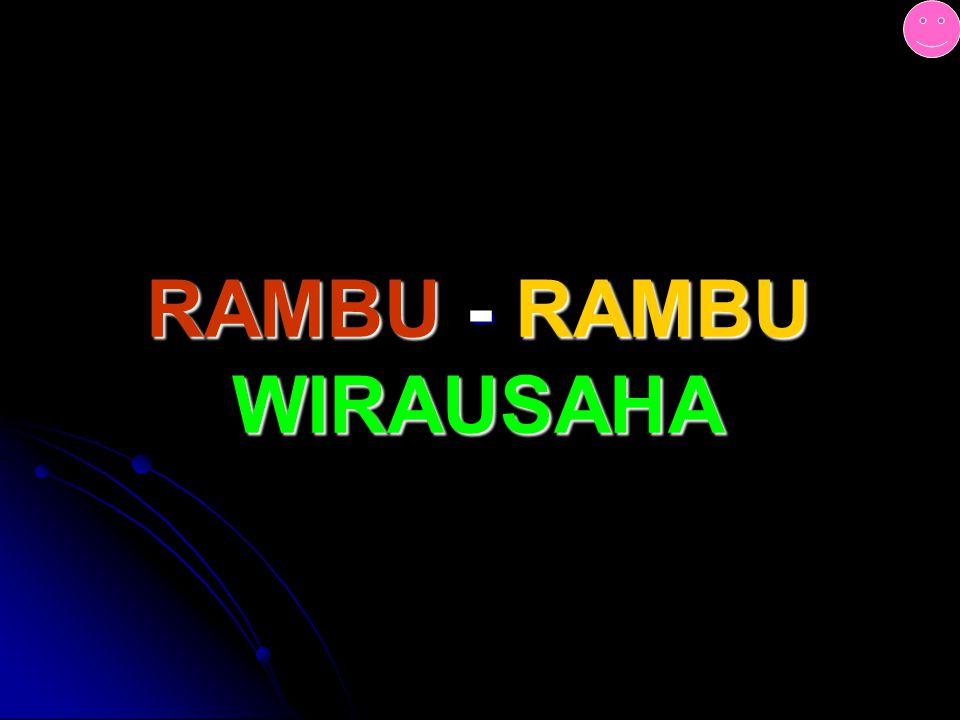 RAMBU - RAMBU WIRAUSAHA