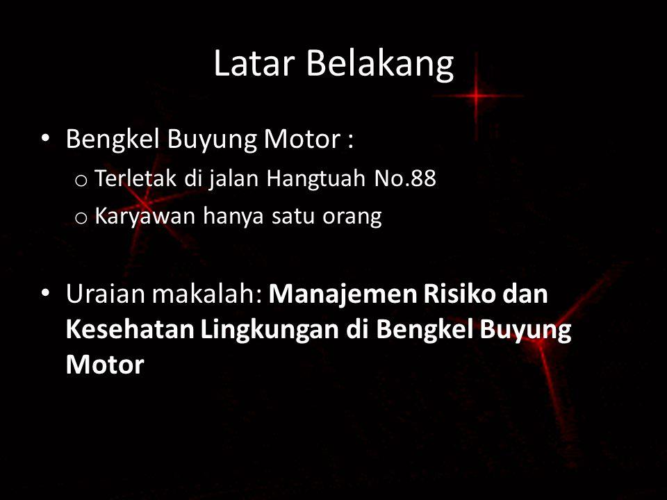 Latar Belakang Bengkel Buyung Motor :