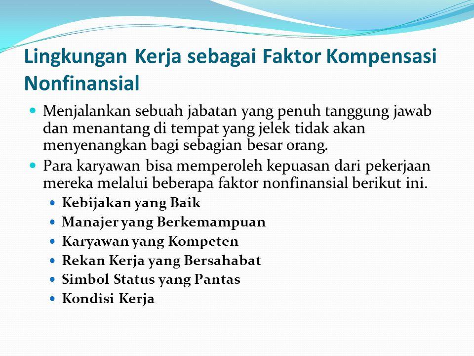 Lingkungan Kerja sebagai Faktor Kompensasi Nonfinansial