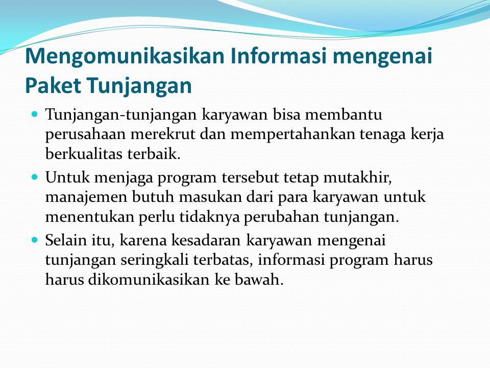Mengomunikasikan Informasi mengenai Paket Tunjangan