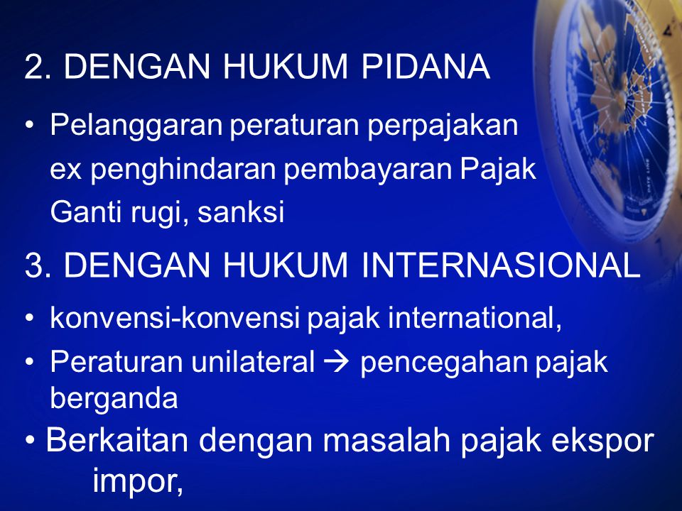3. DENGAN HUKUM INTERNASIONAL