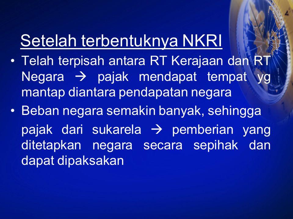 Setelah terbentuknya NKRI