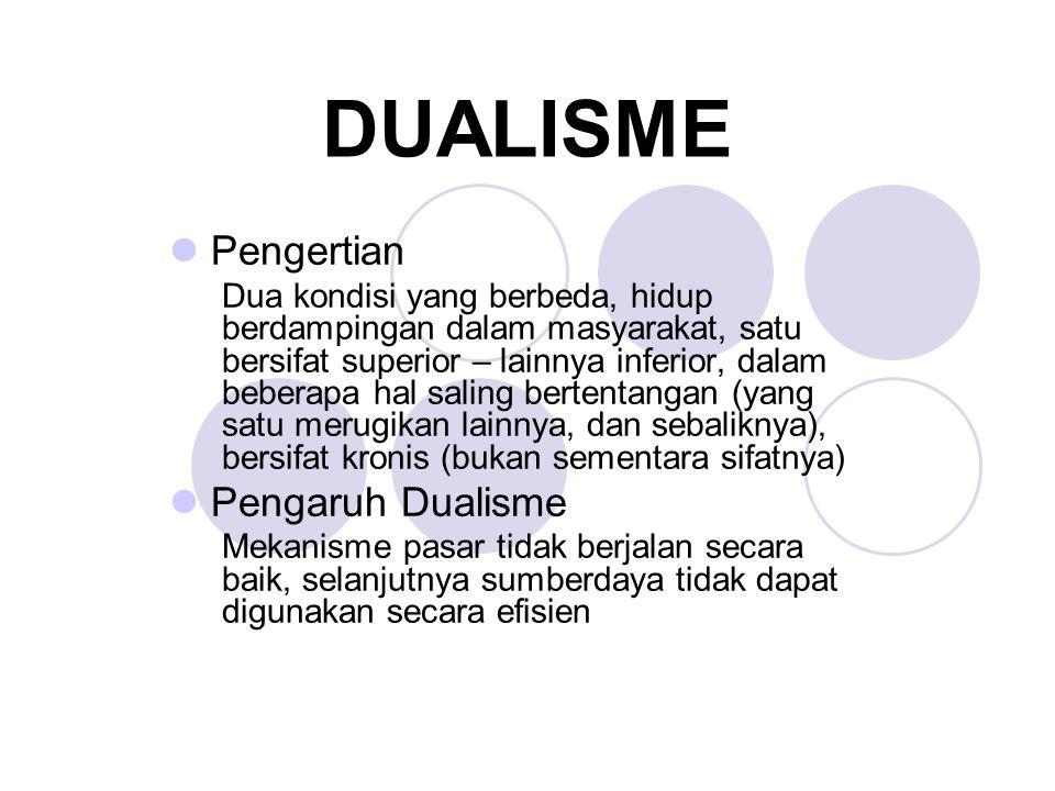 DUALISME Pengertian Pengaruh Dualisme