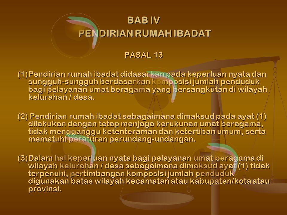 BAB IV PENDIRIAN RUMAH IBADAT
