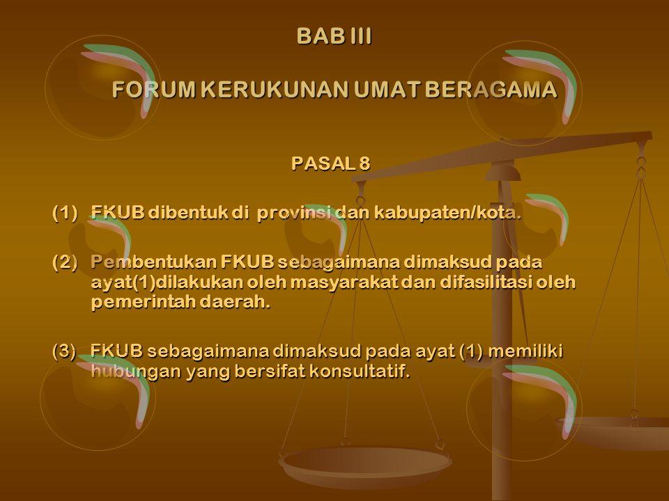 BAB III FORUM KERUKUNAN UMAT BERAGAMA