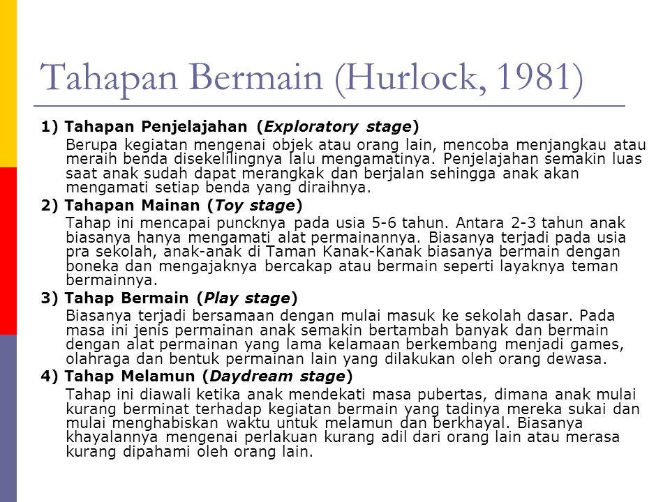 Tahapan Bermain (Hurlock, 1981)