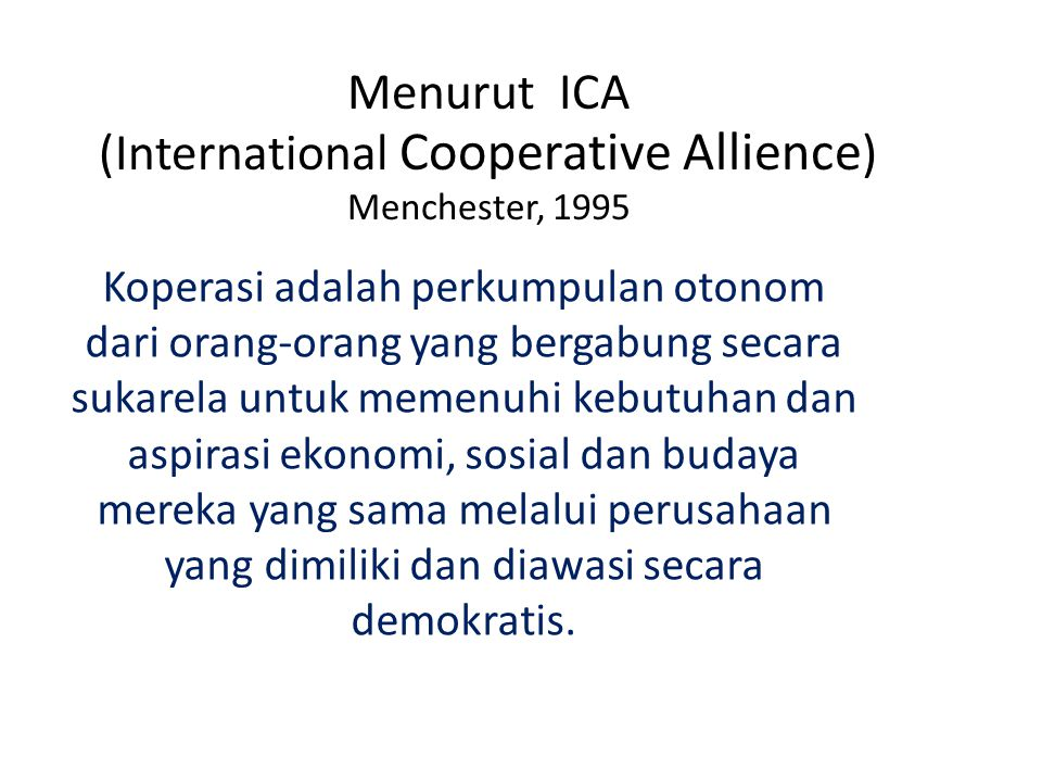 (International Cooperative Allience)