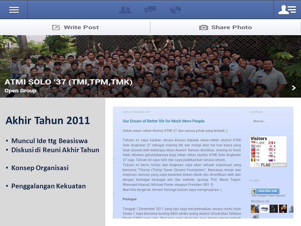 Akhir Tahun 2011 Muncul Ide ttg Beasiswa Diskusi di Reuni Akhir Tahun