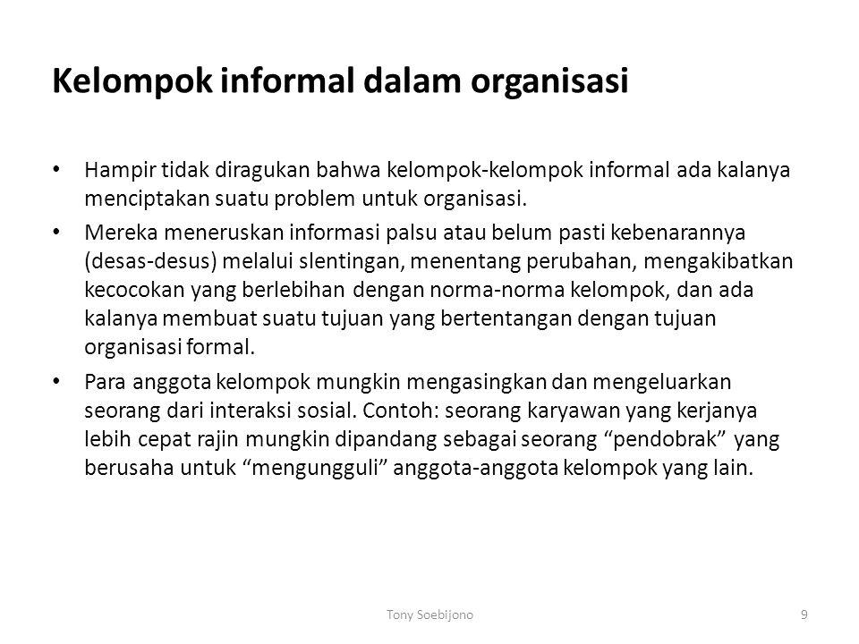 Kelompok informal dalam organisasi