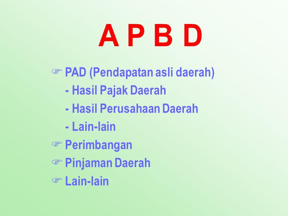 PAD (Pendapatan asli daerah) - Hasil Pajak Daerah