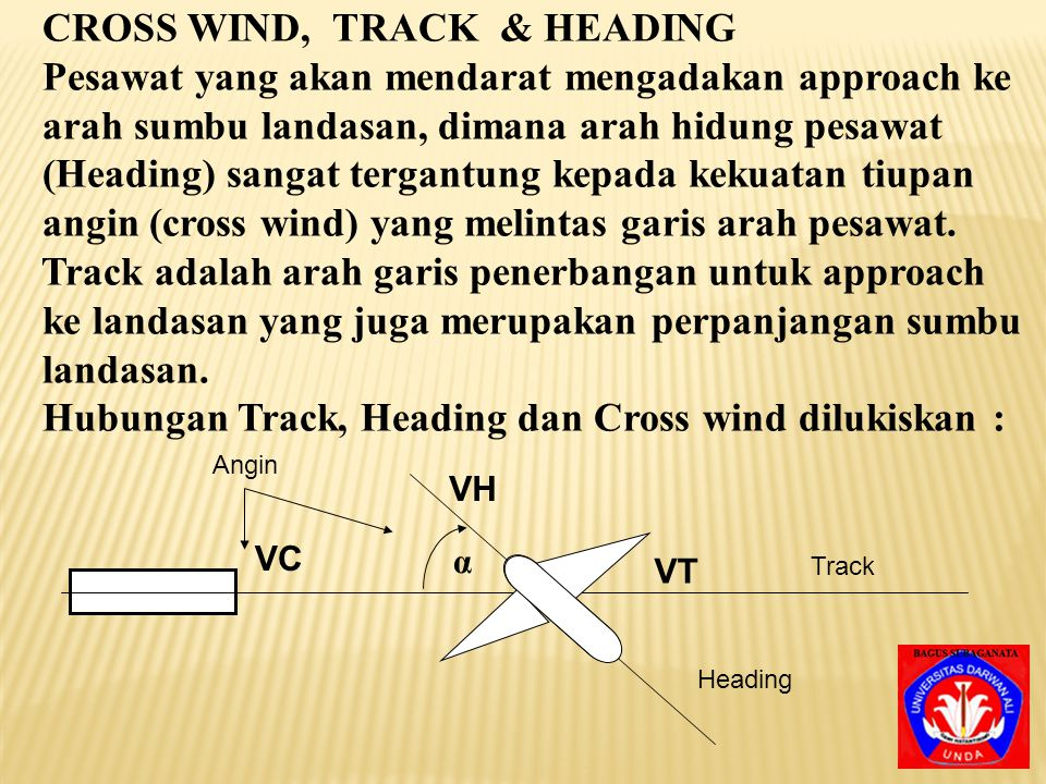 CROSS WIND, TRACK & HEADING