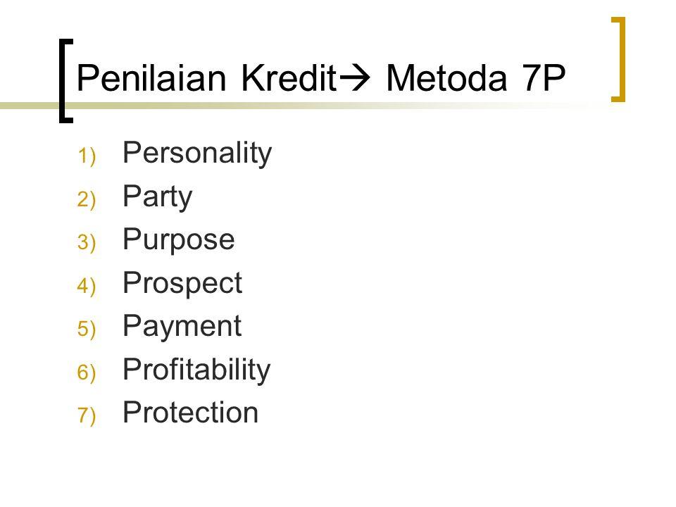 Penilaian Kredit Metoda 7P