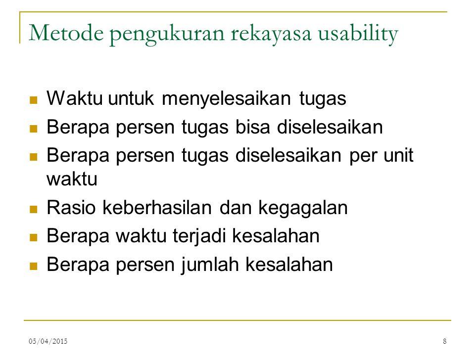 Metode pengukuran rekayasa usability