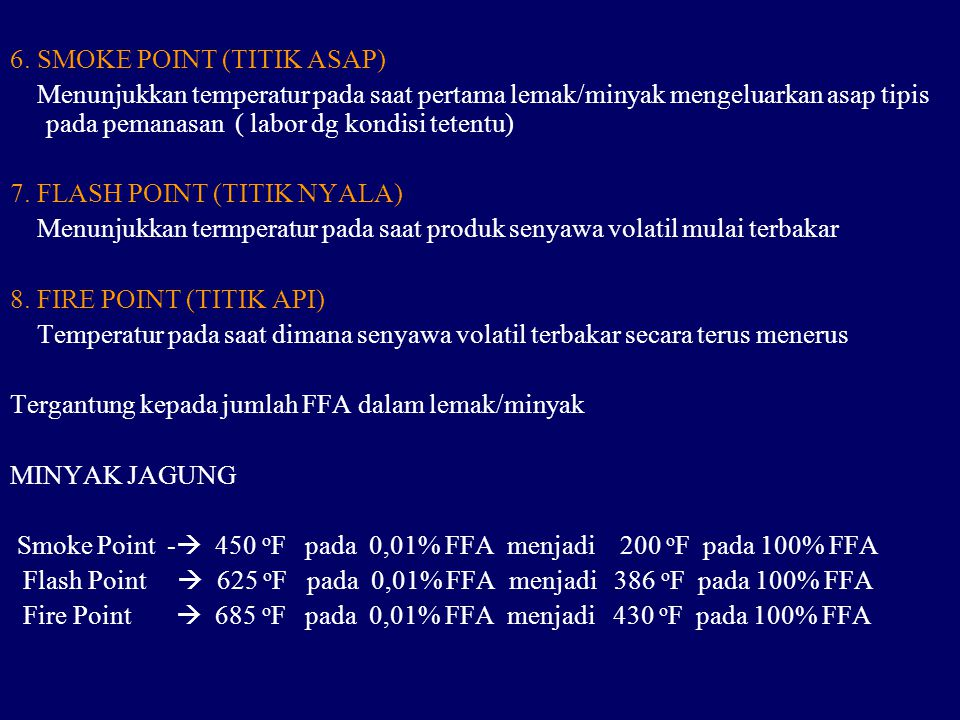 6. SMOKE POINT (TITIK ASAP)