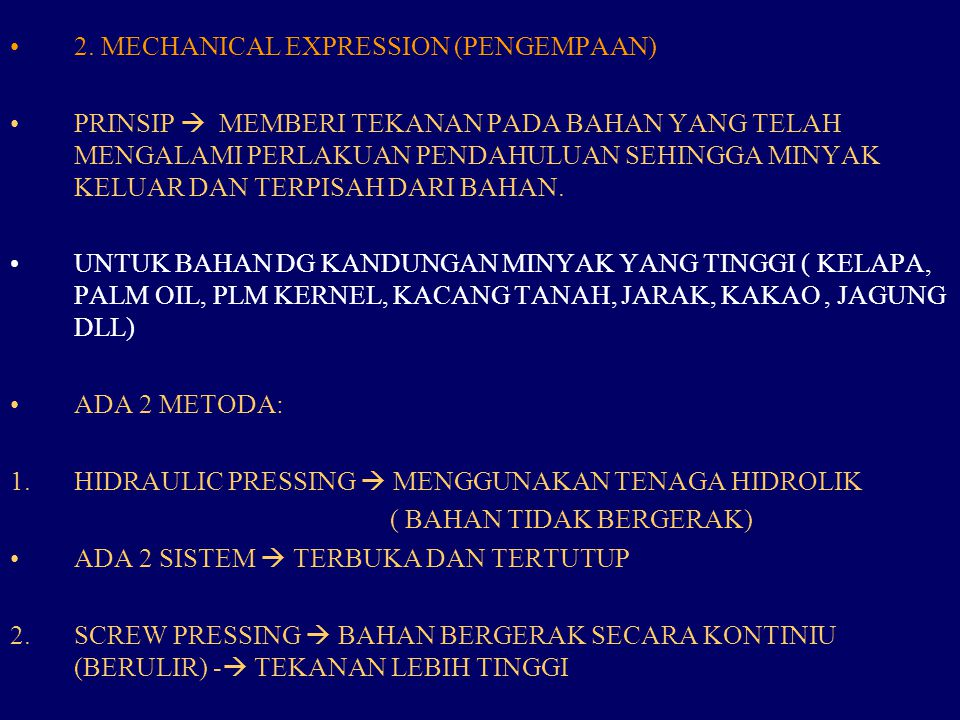 2. MECHANICAL EXPRESSION (PENGEMPAAN)