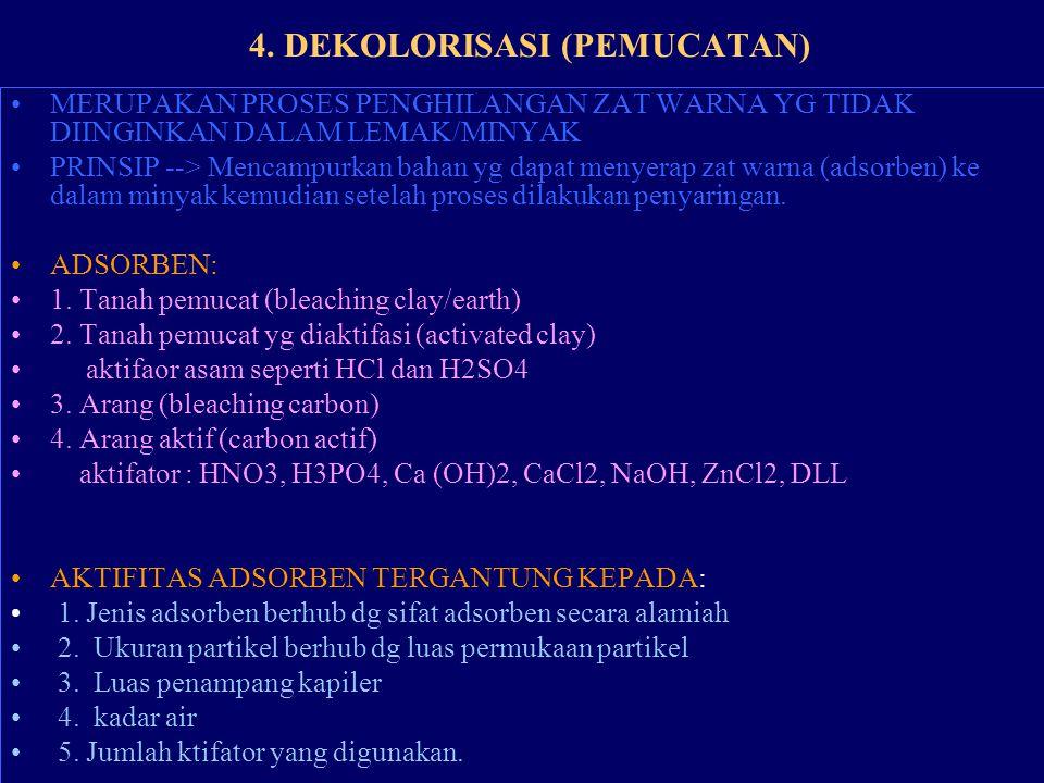 4. DEKOLORISASI (PEMUCATAN)