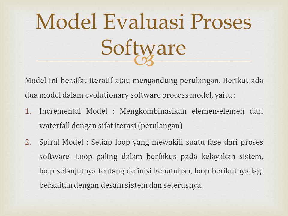 Model Evaluasi Proses Software
