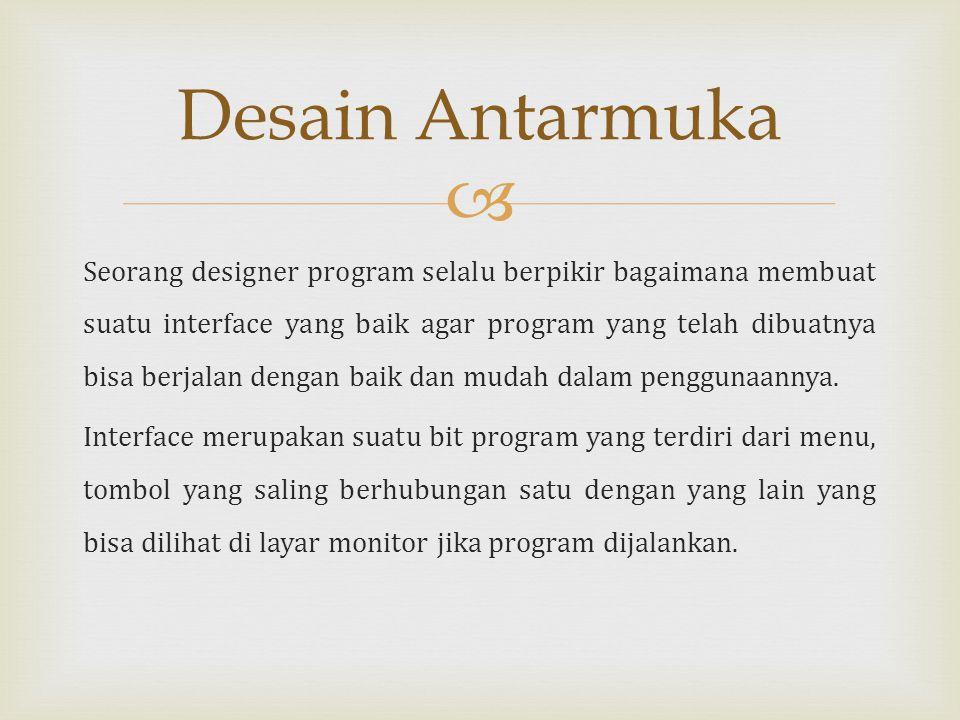 Desain Antarmuka