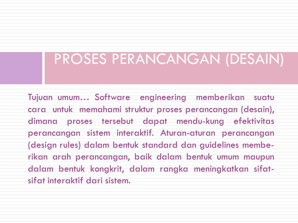 PROSES PERANCANGAN (DESAIN)