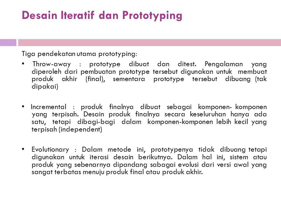 Desain Iteratif dan Prototyping