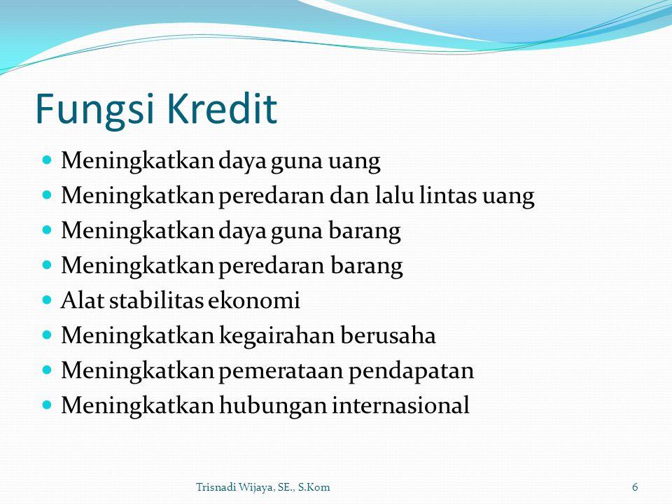 Fungsi Kredit Meningkatkan daya guna uang