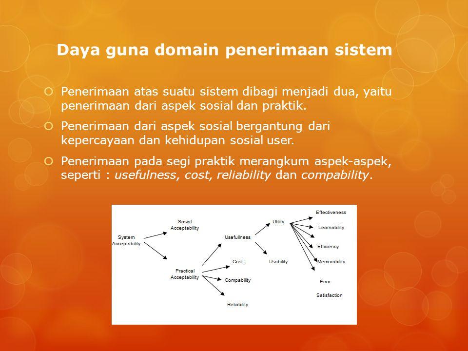 Daya guna domain penerimaan sistem