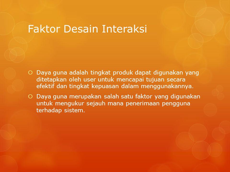 Faktor Desain Interaksi